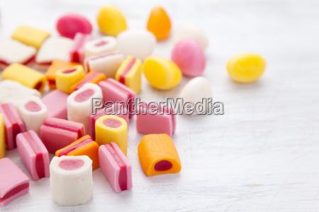 delicioso caramelo dulce con espacio de