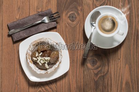 tarta de castanyas