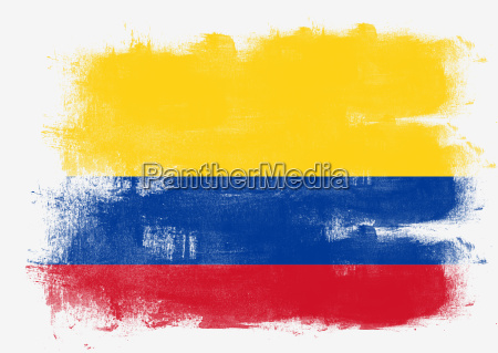 bandera de colombia pintada con pincel