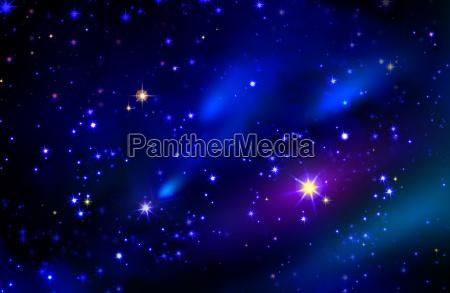 estrellas y el espacio galaxia cielo