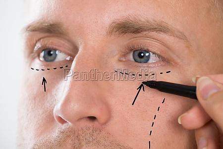 linea correccion dibujo de la mano