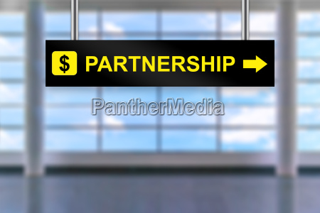 partnership airport sign board