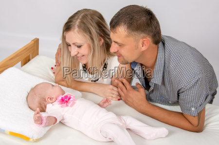 mama y papa con una sonrisa
