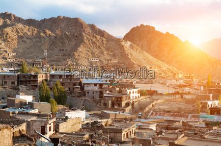leh city in northen india