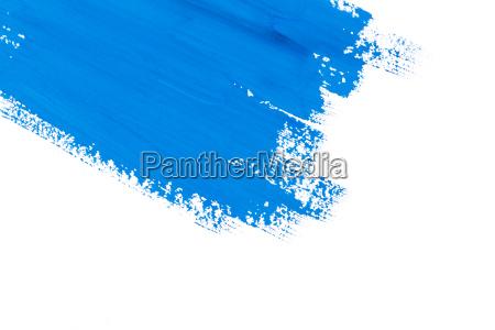 pincel de pintura de trazo azul