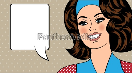 pop art ilustracion de la muchacha