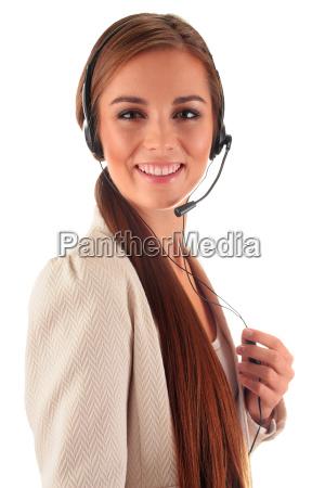 operador del centro de llamadas atencion