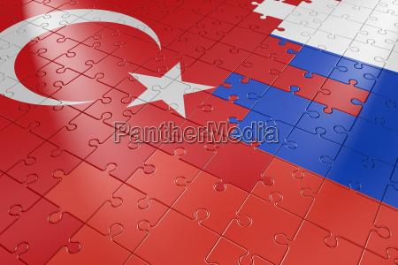 rompecabezas de turquia y rusia