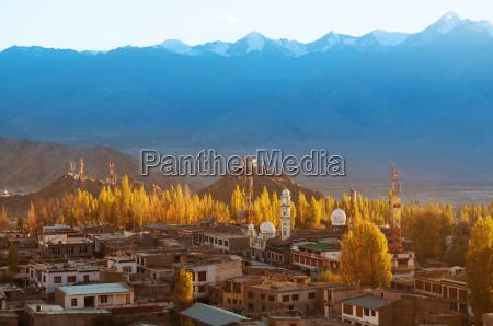 leh city ladakh northern india