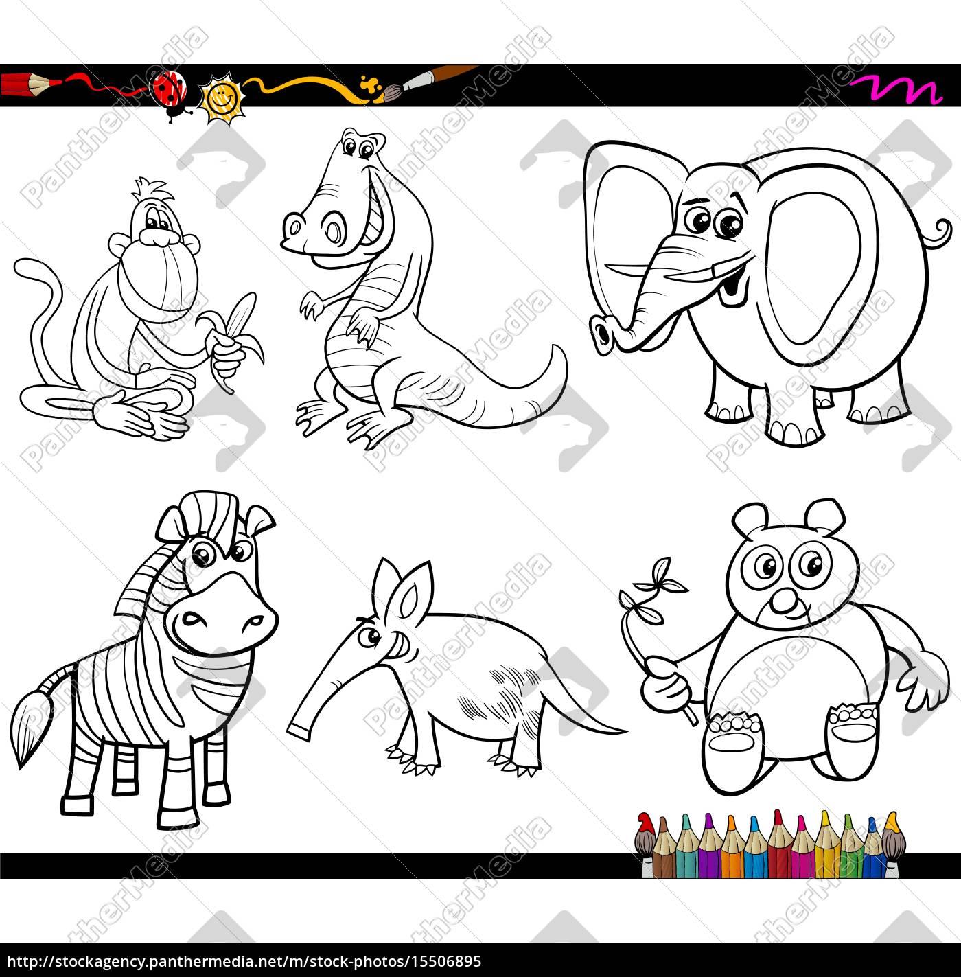 Vector Libre De Derechos 15506895 Colorear Dibujos De Animales Salvajes Para Colorear
