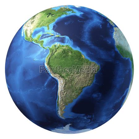 globo terrestre renderizado realista de 3