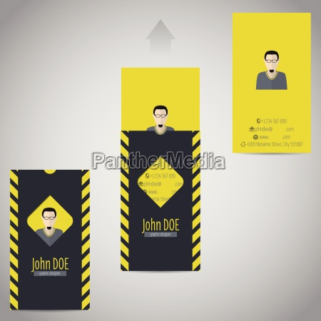 simplistic flat business card with photo
