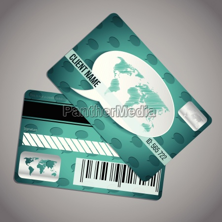 loyalty card with world map on