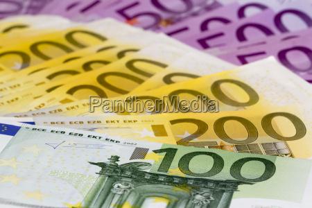 euros eur efectivo dinero