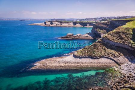 vista panoramica de la costa de