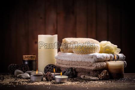 velas toalla mineral de manantial spa