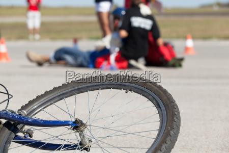 accidente de bicicleta