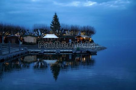 azul luces sonyador romantico advenimiento abeto