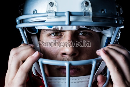 close up portrait of sportsman wearing