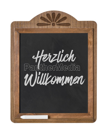 chalkboard with the inscription welcome