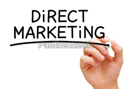 marcador negro marketing directo