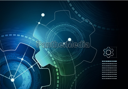 vector technological infographic layout design