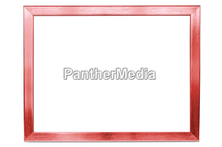 red aluminum empty photo frame on