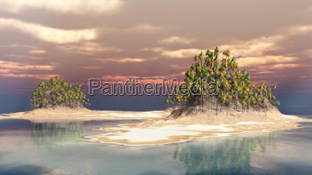 isla en el oceano