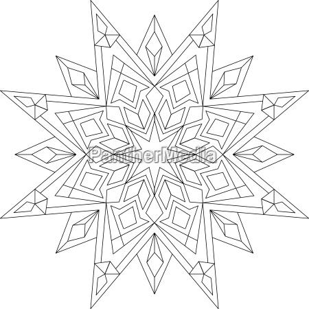 mandala para dar color original para