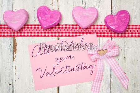 tarjeta rosa todo amor para el