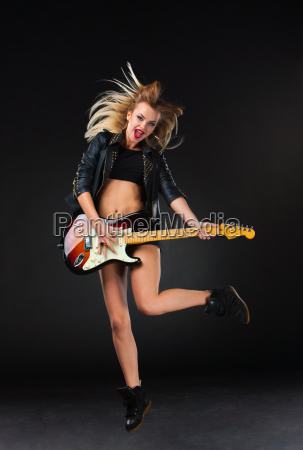 the beautiful girl with guitar