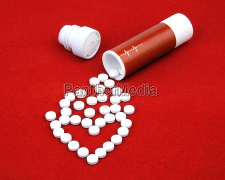 las tabletas de la enfermedad cardiaca