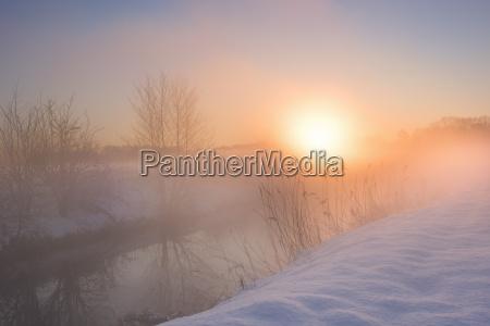 paisaje de invierno con aspecto de