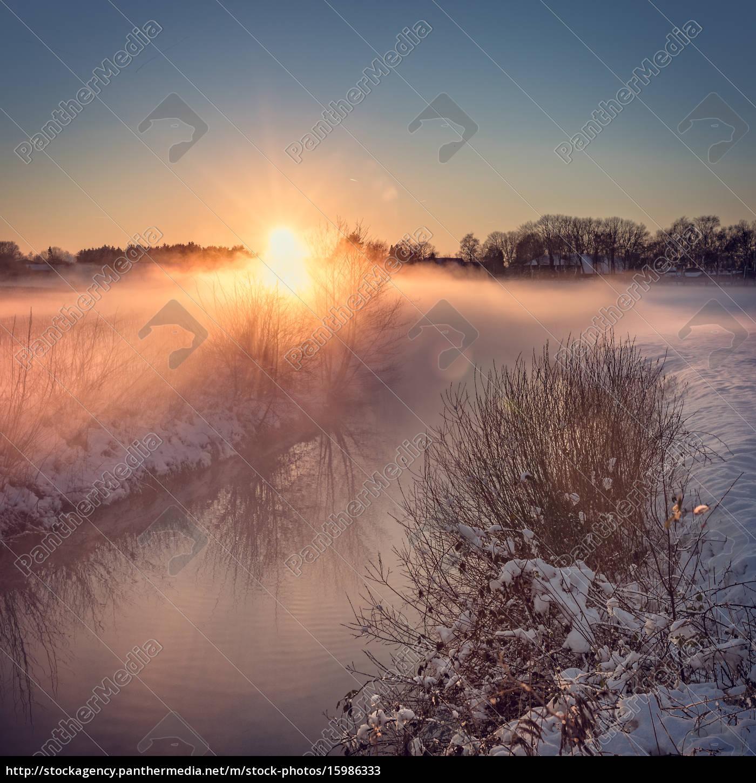 paisaje, del, invierno, con, mirada, del - 15986333