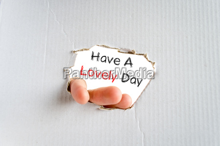 have a lovely day text concept
