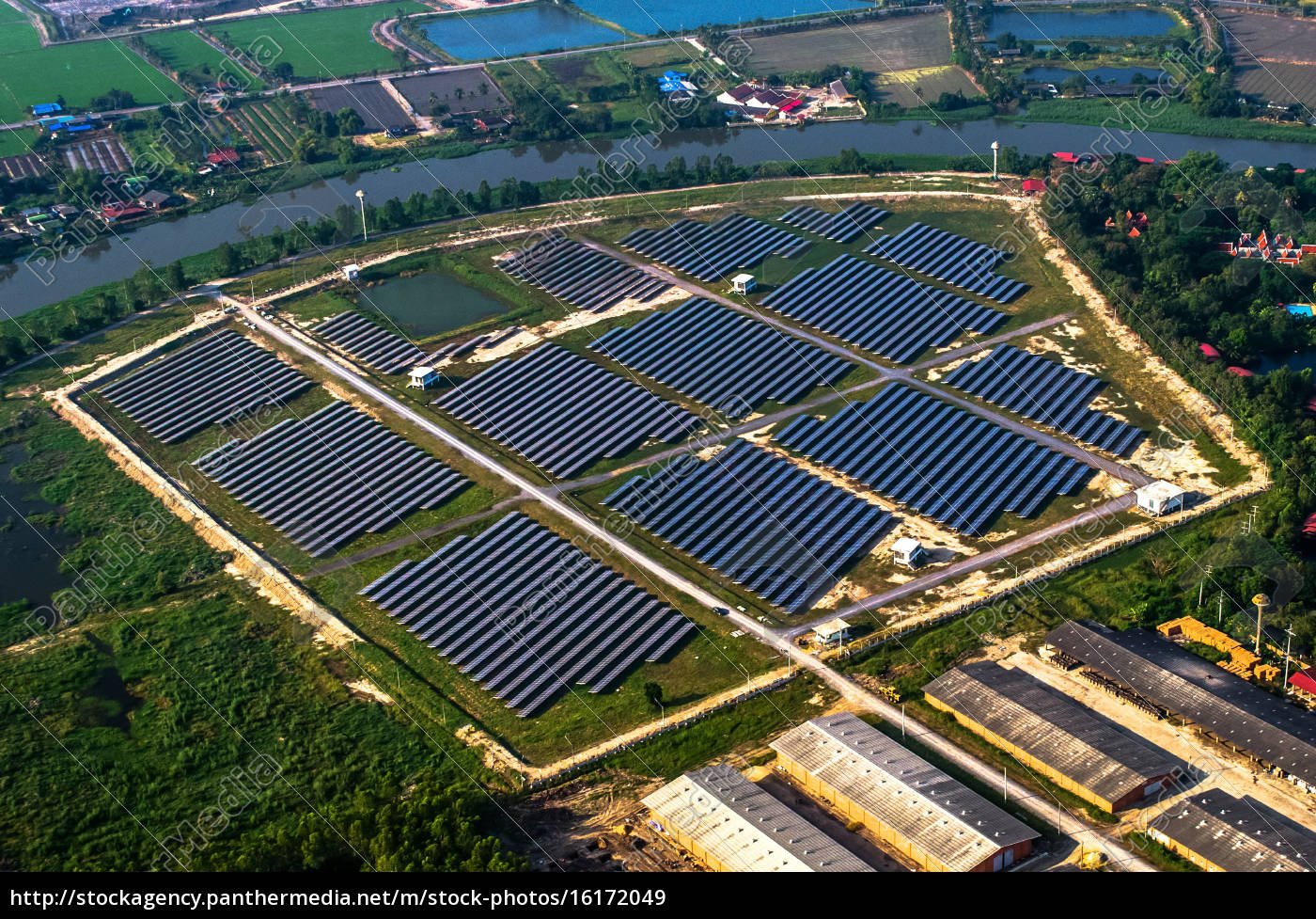 granja, solar, paneles, solares, del, aire - 16172049