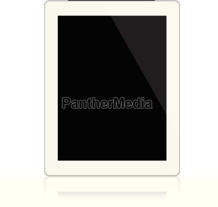 mockup white digital tablet isolated on