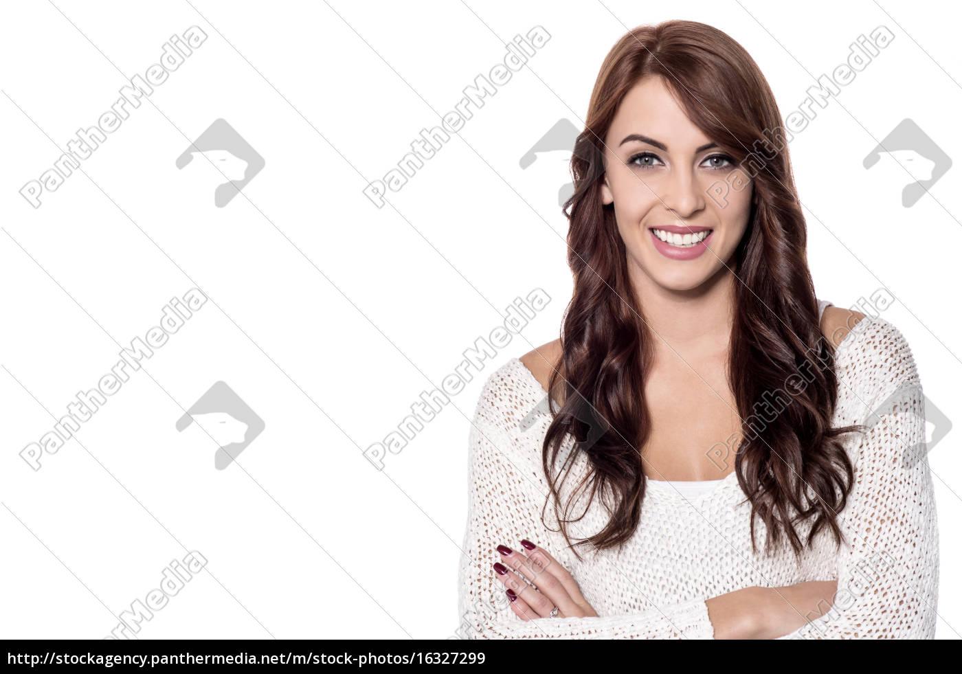 hermosa, mujer, joven - 16327299