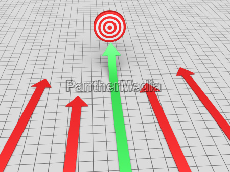flecha encuentra el objetivo
