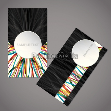 ribbon business card with big 3d