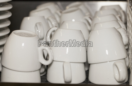 white cups for coffee