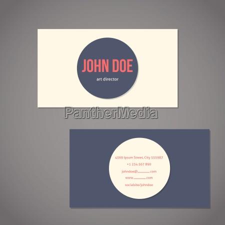 simplistic flat business card