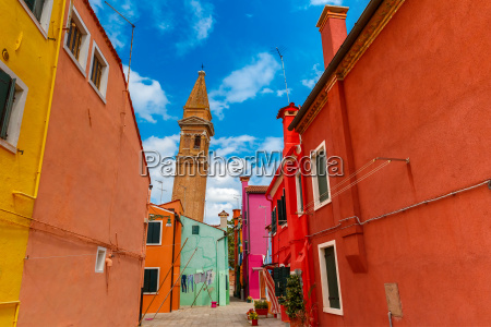 colorful houses on the burano venice