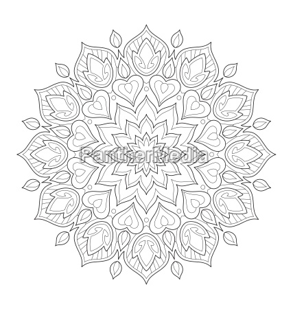 mandala ilustracion para colorear adulto