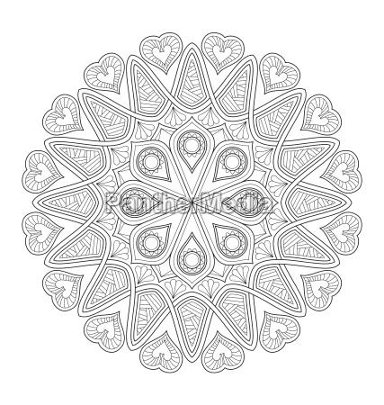 ilustracion mandala para colorear para adultos