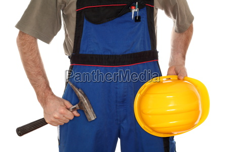 construction worker with clothing