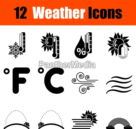 temperatura tiempo icono tormenta conjunto fijar