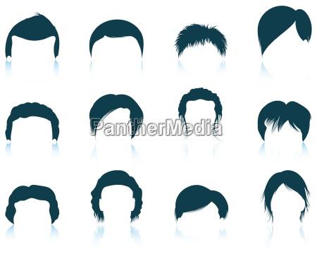 juego de peinados del hombre iconos