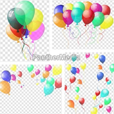globos coloridos transparentes