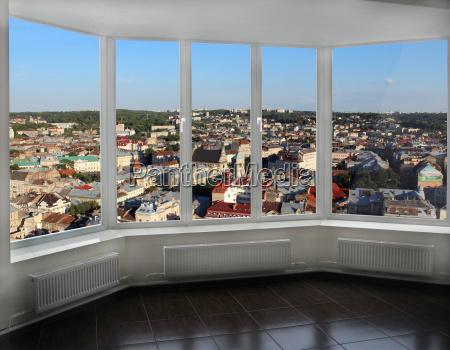 ciudad ventana urbano camino marco